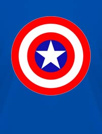 ESCUDO CAPITAN AMERICA, VERSION LOGO...
