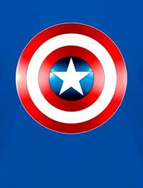 ESCUDO CAPITAN AMERICA, VERSION 2