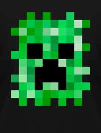 MINECRAFT CARA CREEPER V.2