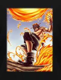 ONE PIECE ACE ON FIRE